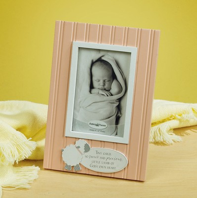Little Lamb Photo Frame, Pink  -