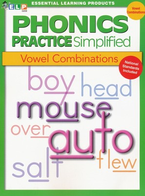 Phonics Practice Simplified Book E: Vowel Combinations   -