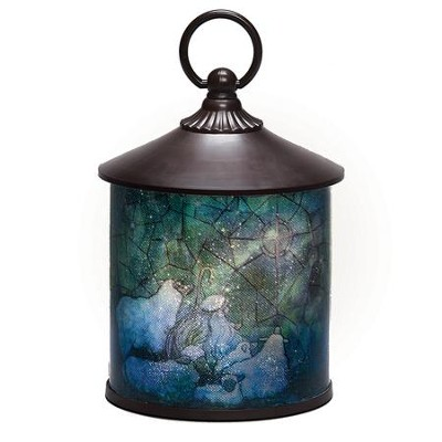 LED Shepherd With Sheep Lantern  -