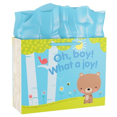 Oh Boy! What A Joy Gift Bag, Large  -