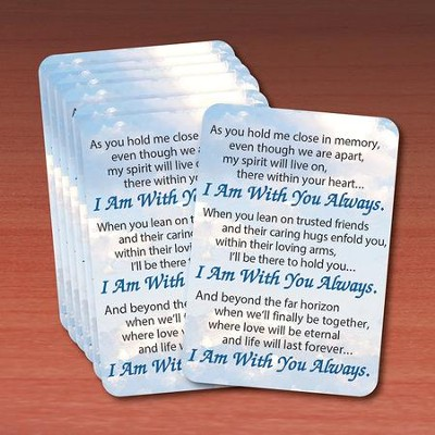 I Am Always With You Prayer Cards, Pack of 25  -