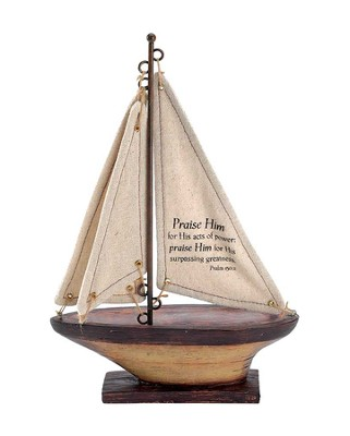 Praise Him For His Acts Of Power Sailboat, Medium  -