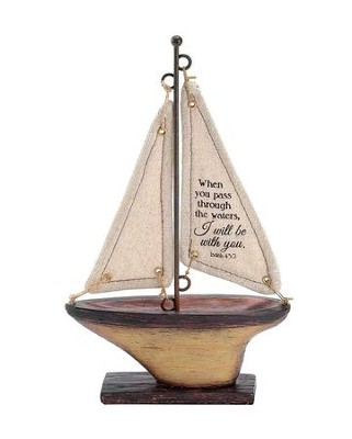 When You Pass Through the Waters, I Will Be With You Sailboat, Small  -