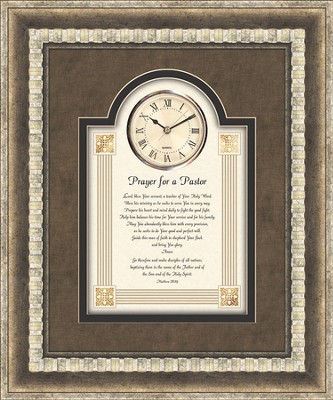Prayer For A Pastor Framed Art Clock  -