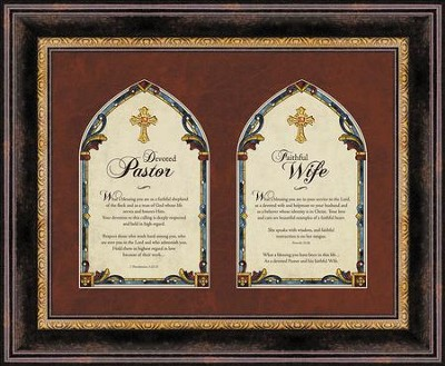 Devoted Pastor, Faithful Wife Framed Art  -