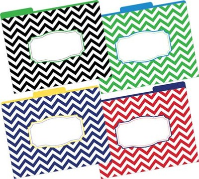Chevrons Bold File Folders (Pack of 12)   -