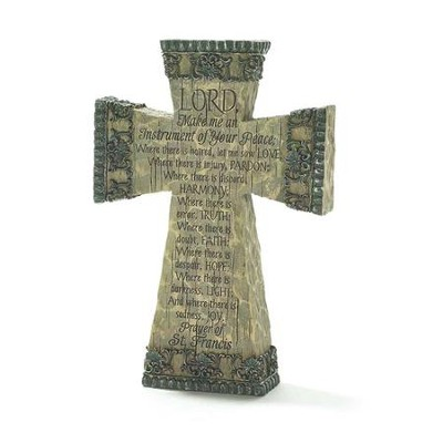 Prayer Of St. Francis Tabletop Cross  -
