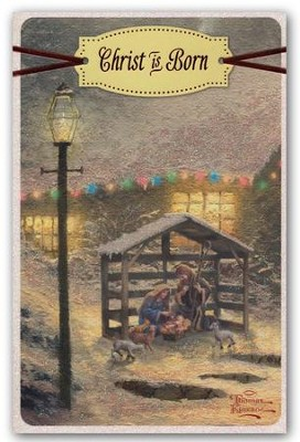 Christ Is Born, Christmas Cards, Box of 16  -     By: Thomas Kinkade