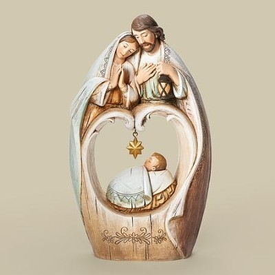 Holy Family, Star Over Baby Figurine  -