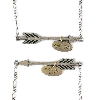 Mom, Arrow Necklace  -