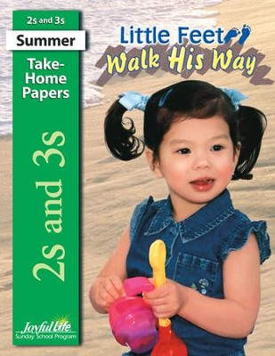 Little Feet Walk His Way (ages 2 & 3) Take-Home Papers  -