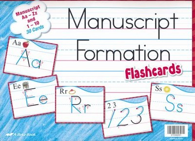 Abeka Manuscript Formation Flashcards Grades K-1   -