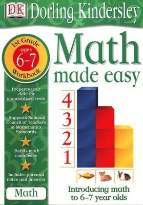 Math Made Easy: First Grade Workbook  -