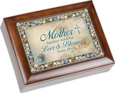 Mother, Another Word For Love and Blessing, Jeweled Music Box  -