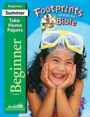 Footprints through the Bible Beginner (ages 4 & 5) Take-Home Papers  -