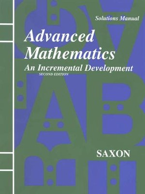 Saxon Advanced Math, Solutions Manual   -