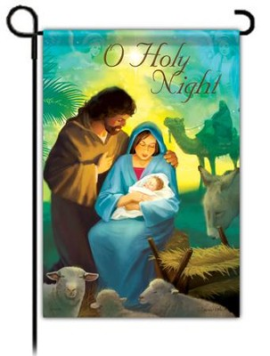 O Holy Night Flag, Small  -     By: Laurie Cook