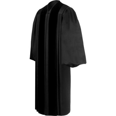 Minister Pulpit Robe, Black (5'10 - 6'0 tall / 42 - 46 chest)   -