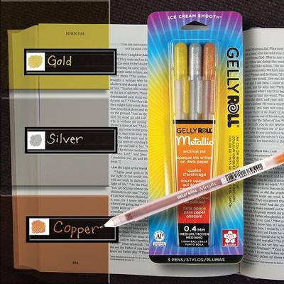 Gelly Roll Metallic Pens, Pack of 3  -