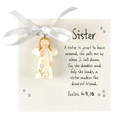 A Sister Is Great, Angel Ornament  -