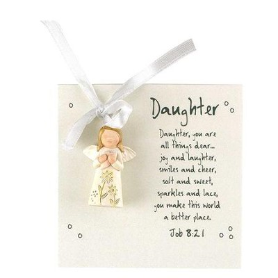 Daughter, You Are At All Times Dear, Angel Ornament  -