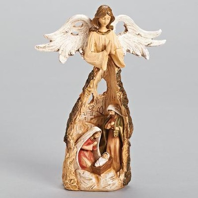 Holy Family & Angel Root Figurine  -