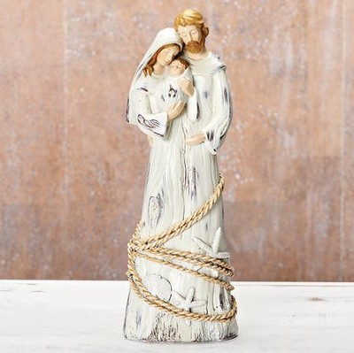 Holy Family Rope & Seashore Figurine  -