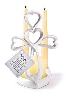 Eternal Cross Unity Candle Holder  -