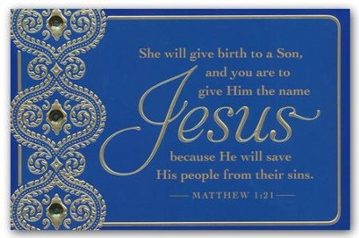 Jesus: He Will Save, Christmas Cards, Box of 18  -
