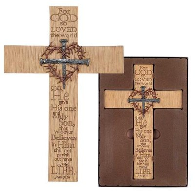 For God So Loved the World Wall Cross  -