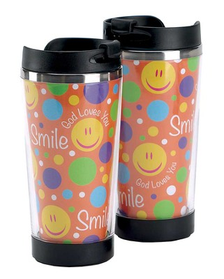 Smile God Loves You Travel Mug  -