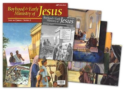 Abeka Boyhood/Early Ministry of Jesus Flash-a-Card Set (for   use with The Light Junior Sunday School Curriculum)  -