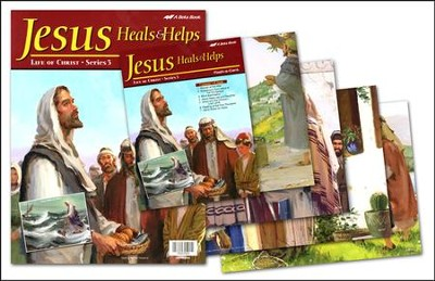 Abeka Jesus Heals and Helps Flash-a-Card Set (for use with  Bible Adventures Primary Sunday School Curriculum)  -