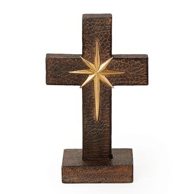 Tabletop Cross with Compass  -