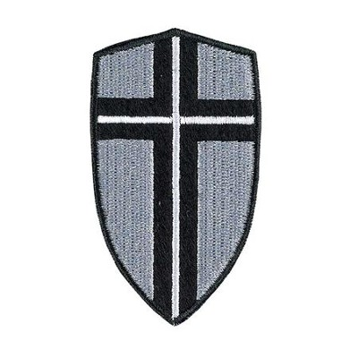 Shield, Iron On Patch  -