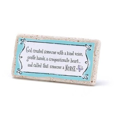 God Created Someone With A Kind Voice, Tile Plaque  -