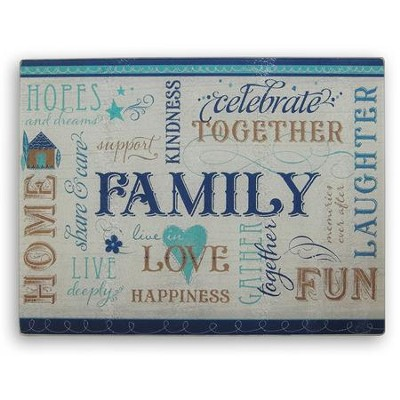Family, Glass Cutting Board  -