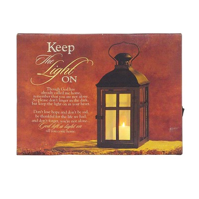 Keep the Light On Tabletop, LED Plaque  -