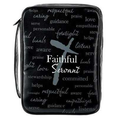 Faithful Servant, Vinyl Bible Cover, Large  -