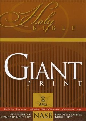 NASB 1977 Giant-Print Handy-Size Bible--bonded leather, black  -