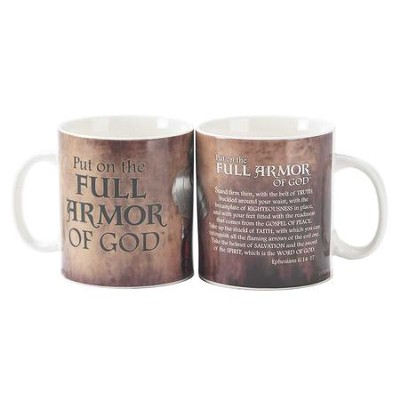 Full Armor of God, Stoneware Mug, Ephesians 6:14-17, 20 oz.  -