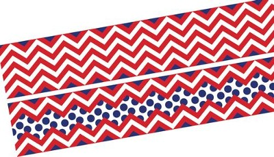 Chevron Bold Red Double-Sided Border   -