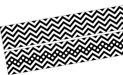 Chevron Bold Black Double-Sided Border   -