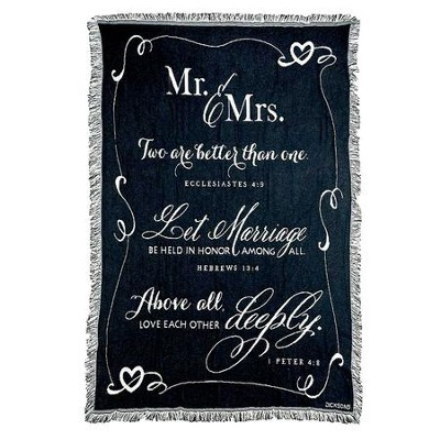 Mr. & Mrs. Tapestry Throw, 48 x 60  -