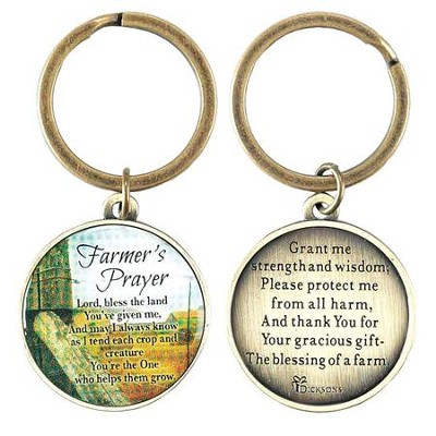 Farmer's Prayer, Metal Keyring   -