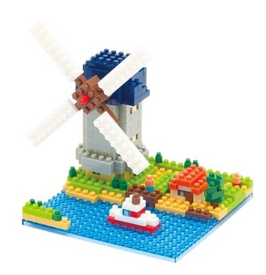 Nanoblock Sights To See, Kinderdijk Windmill   -