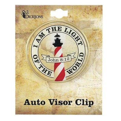I Am The Light, Visor Clip, John 8:12  -