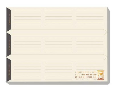 A Faithful Man Desk Pad  -