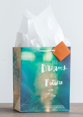 Bold Dreams, Bright Future Gift Bag, Medium  -