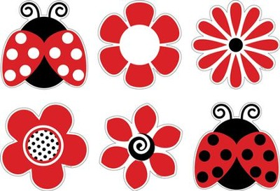 Ladybugs and Posies Accents (Pack of 36)   -